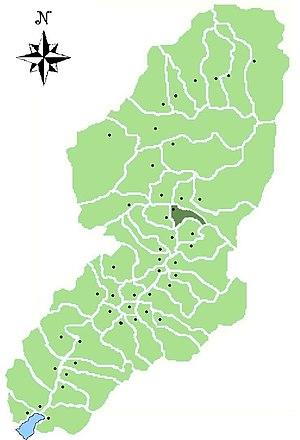 Cedegolo - Image: Map of comune of Cedegolo in Val Camonica (LG)