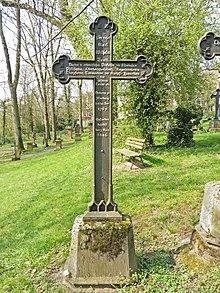 Grab von Karl Wilhelm Justi auf dem Friedhof am Barfüßertor in Marburg (Quelle: Wikimedia)