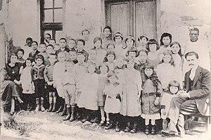 Armenians in Ethiopia - Addis Ababa Armenian school students in 1918, teachers Mari and Vaghinak Bekaryan
