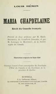 <i>Maria Chapdelaine</i>
