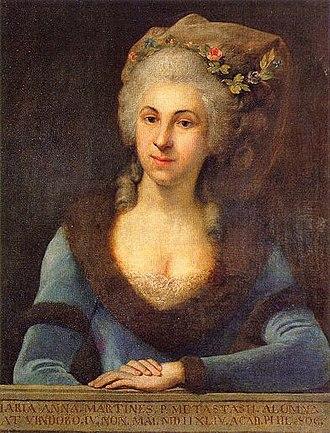 Marianna Martines - Portrait of Marianna Martines by Anton von Maron, dated by Lorenz ca. 1773