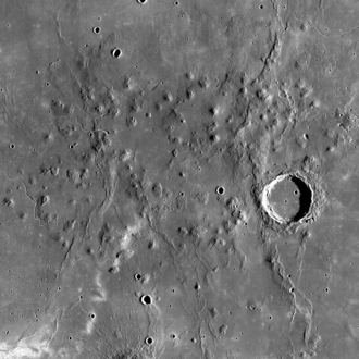Marius Hills - Overhead view of the Marius Hills taken by Lunar Reconnaissance Orbiter.