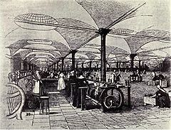 19th-century Great Britain become the first global economic superpower, because of superior manufacturing technology and improved global communications such as steamships and railroads.
