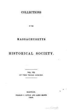 Massachusetts Historical Society series 3 volume 8.djvu