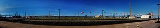Soo Locks - Image: Mc Arthur Lock Panorama