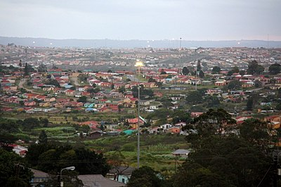 The township of Mdantsane near East London, Eastern Cape