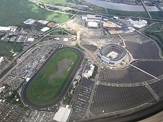 Meadowlands Sports Complex - A view of the complex from the air in 2018