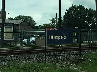 Hilltop Road station - Hilltop Road station