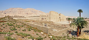 Medinet Habu (temple) - Mortuary Temple of Ramesses III, general view from the south