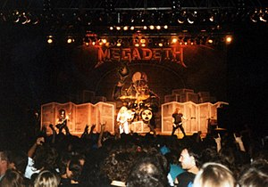 Megadeth - Megadeth performing at the Sloss Furnaces in Birmingham, Alabama on July 17, 1991.