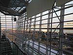 Meitetsu Airport Line from departure lobby of Chubu Centrair International Airport.JPG