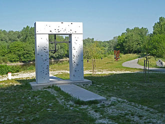 Devín Gate - Memorial for the 400 men and women who were shot trying to escape to Austria during the Cold War