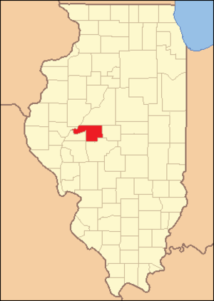 Menard County, Illinois - Image: Menard County Illinois 1839