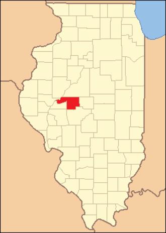 Menard County, Illinois - Image: Menard County Illinois 1839