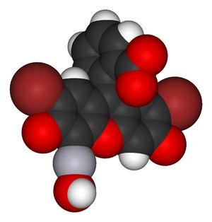 Merbromin - Image: Merbromin 3D vd W