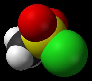 Methanesulfonyl chloride - Image: Mesyl chloride 3D vd W