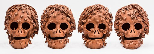 Mexican clay skulls.jpg