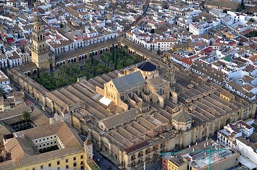 Mezquita de Córdoba desde el aire (Córdoba, España)