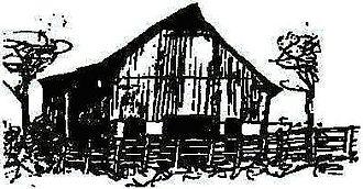 The Missouri Folklore Society - MFS logo, drawn by Cathy Barton Para