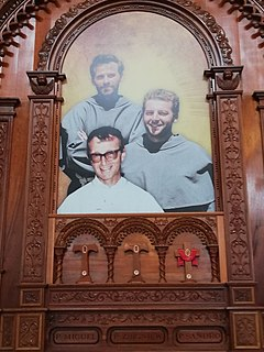 Three Martyrs of Chimbote group of two Polish Franciscan priests and one Italian missionary priest