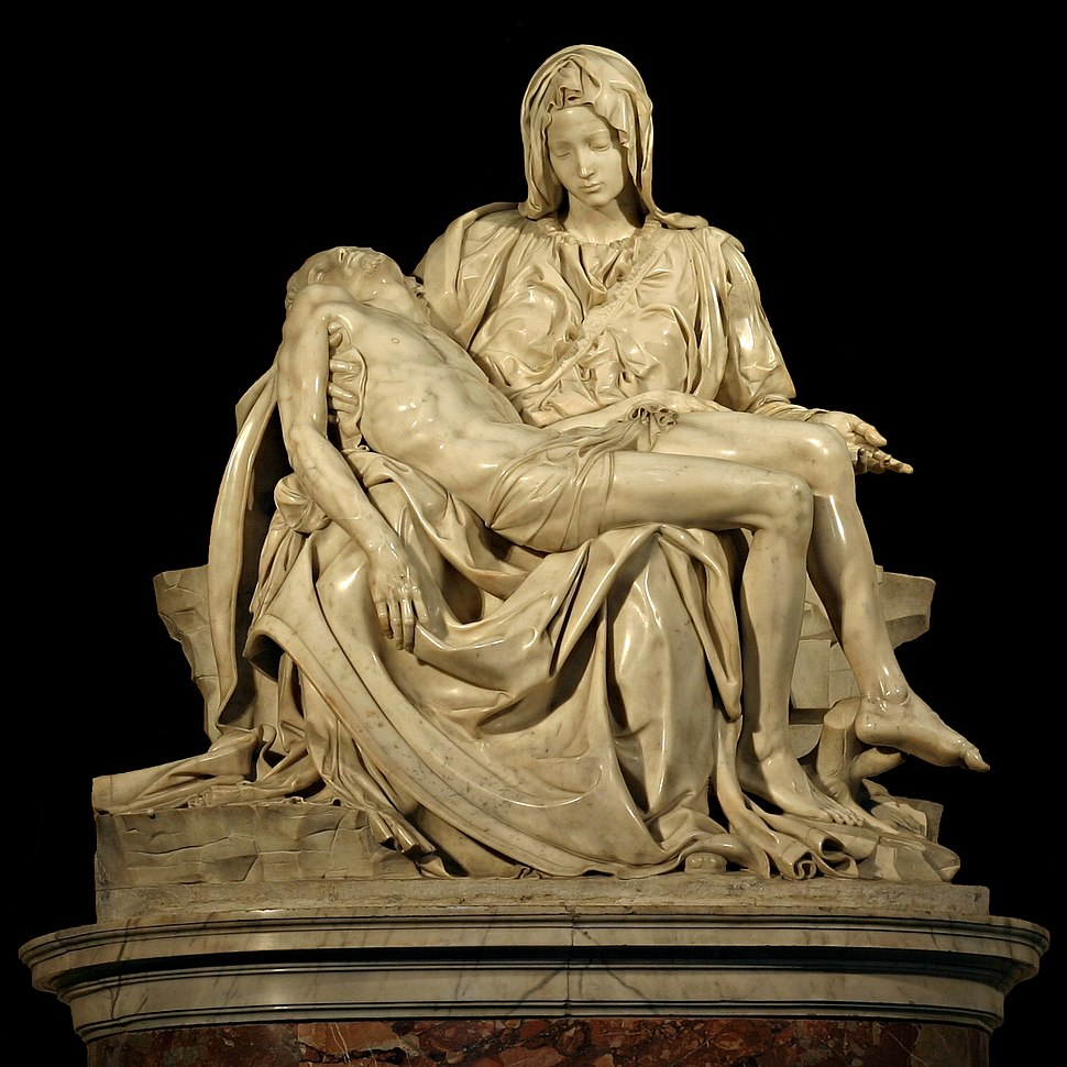 Michelangelo's Pieta 5450 cut out black