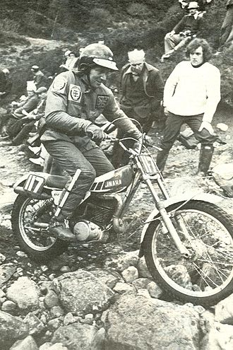Mick Andrews - Andrews on a Yamaha in 1975