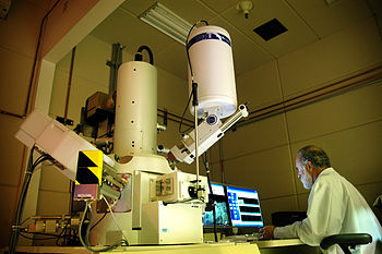 Research being carried out at the Microscopy l...