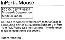 Label from Microsoft InPort mouse