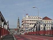 Middelburg, zicht op de Lange Jan vanaf het station foto3 2014-02-23 13.33