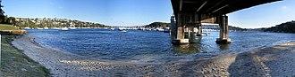 Middle Harbour - Middle Harbour, under the Spit Bridge.