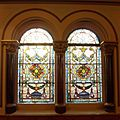 Middle Street Synagogue, Brighton (May 2013) - Stained Glass Windows on East Side (1).jpg