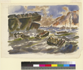 Military Transport Boats at Iwo Jima by Harry Reeks.png