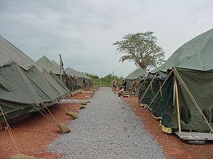 Military tent city