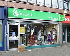 Mind (charity) - A Mind charity shop in London