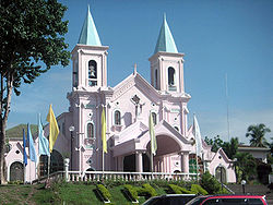 The Immaculate Heart of Mary Church located in the center of the town of Minglanilla