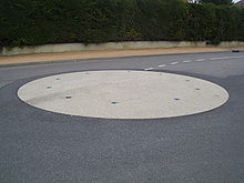 Mini rond-point en France