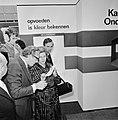 Minister Kemenade opent internationale onderwijs tentoonstelling in Utrecht, min, Bestanddeelnr 927-1156.jpg