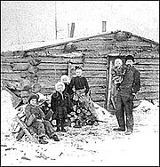 Log cabin in Minnesota