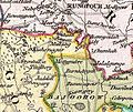 Mithapukur in the Dury Wall Map of Bihar and Bengal, India.jpg