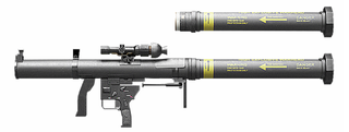 Mk 153 Shoulder-Launched Multipurpose Assault Weapon Multi-role (anti-fortification, anti-armor) rocket launcher
