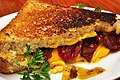 Mmm... grilled cheese with dried tomatoes (5095259698).jpg