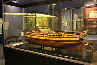HMS Foudroyant (1798) - A model of the Foudroyant in Monmouth Museum