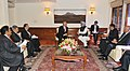 Mohammad Najib Abdul Razak meeting the Prime Minister, Dr. Manmohan Singh, in New Delhi on December 20, 2012. The Union Minister for Commerce & Industry and Textiles, Shri Anand Sharma is also seen.jpg