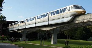 English: Monorail Peach at Walt Disney World, ...