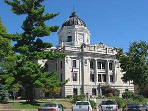 Monroe County Courthouse in Bloomington, gelistet im NRHP Nr. 76000012[1]