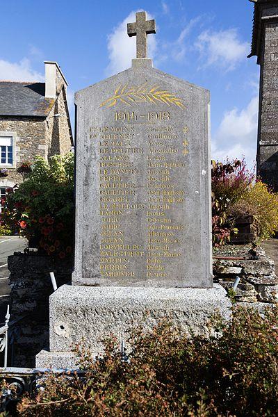 Français:  Monument aux morts de la Première Guerre mondiale de Le Bodéo (France).