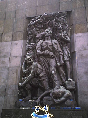 Monument of ghetto uprising.JPG