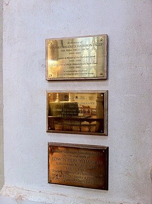 Edward Percy Hallam - Lowest of these three plaques in St. Edmundsbury Cathedral is to Edwin Percy Hallam