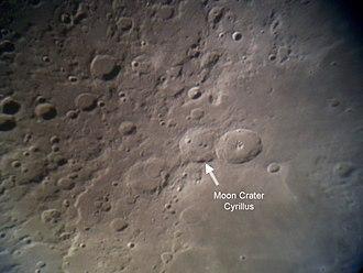 Cyrillus (crater) - Location of Cyrillus