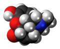 Morphinone molecule spacefill.png